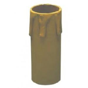 Finta candela anticata + portalampade  E14 mm 65      Lampo