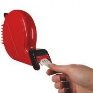 Distributore di ticket manuale a numero  per eliminacode  colore rosso