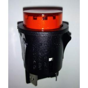 Interruttore bipolare rosso luminoso diam ø 23 mm     Gbc