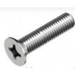 Viti a metallo zincate  a testa piana , impronta a croce M4x16 mm  UNI7688  Mc Bolt