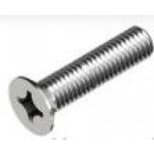Viti a metallo zincate  a testa piana , impronta a croce M4x30 mm  in confezione da 10 pezzi  UNI7688  Mc Bolt